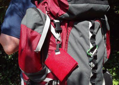 bowl on backpack